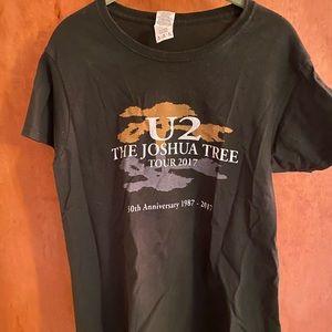 U2 Joshua Tree Tour 2017 T-shirt green M